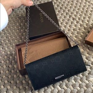 1a478dafa5c4 NWT Authentic Gucci GG Woven Wallet on Chain